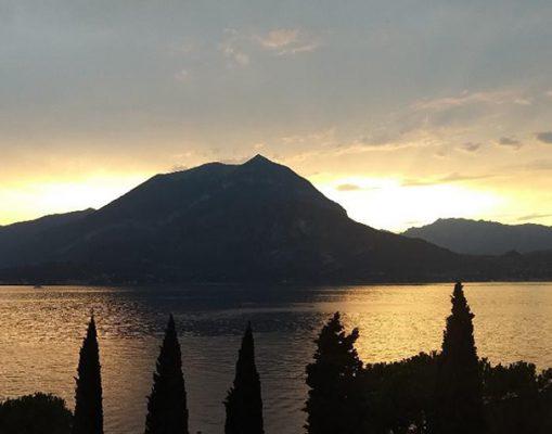 Sunset on Como Lake tramonto sul Lago di Como